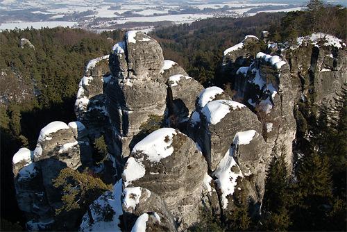 Zimní Hruboskalsko