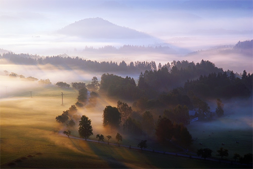 Ráno ve Vysoké Lípe