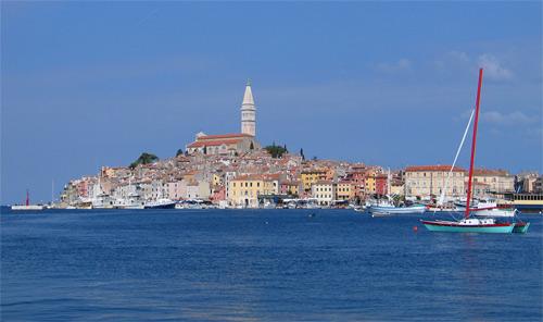 Rovinj je jednou z malebných vesniček na Chorvatské Istrii